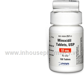 Minoxidil 10mg 100 Tablets/Pack