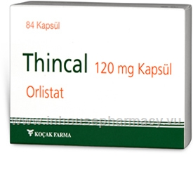 Thincal (Orlistat 120mg) 84 Capsules/Pack (Sourced from Turkey)