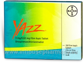 Yazz (Drospirenone and Ethinyloestradiol 3mg/20mcg) 28 Tablets/Pack (Turkish)