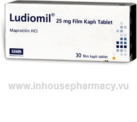 Ludiomil (Maprotiline 25mg) 30 Tablets/Pack (Turkish)