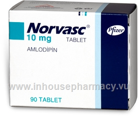 Norvasc (Amlodipine besylate 10mg) 90 Tablets/Pack (Turkish)