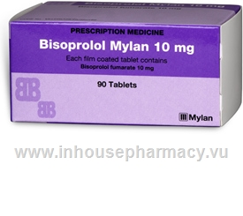 Bisoprolol Mylan (Bisoprolol 10mg) 90 Tablets/Pack