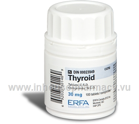 Thyroid 30mg 100 Tablets/Pack by ERFA
