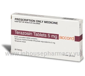 Terazosin 5mg 28 Tablets/Pack