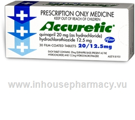 Accuretic 20/12.5mg (Quinapril/HCTZ) 30 Tablets/Pack