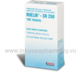 Nuelin SR250 (Theophylline) 100 Tablets/Pack