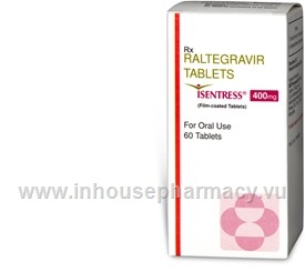 Isentress 400mg (Raltegravir) 60 Tablets/Pack