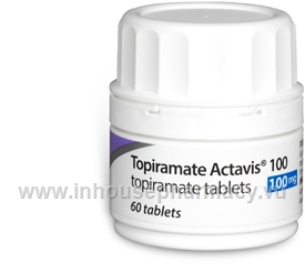 Topiramate Actavis 100mg 60 Tabs/Pack