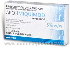 APO-Imiquimod Cream 5% 12 x 250mg Sachets/Pack