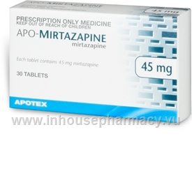 APO-Mirtazapine 45mg 30 Tablets/Pack