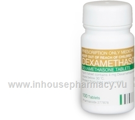 Dexamethasone 4mg 100 Tablets/Pack