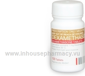 Dexamethasone 1mg 100 Tablets/Pack