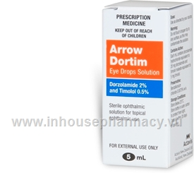 Arrow - Dortim Eye Drops (Dorzolamide 2% and Timolol 0.5%) 5ml/Pack