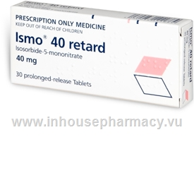 Ismo 40 retard (Isosorbide-5-mononitrate) 30 Prolonged-Release Tablets/Pack