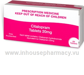 Citalopram 20mg 84 Tablets/Pack by PSM
