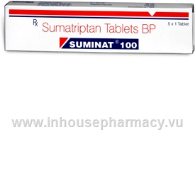 Suminat (Sumatriptan) 100mg 5 Tablets/Pack