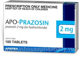 APO-Prazosin 2mg 100 Tablets/Pack