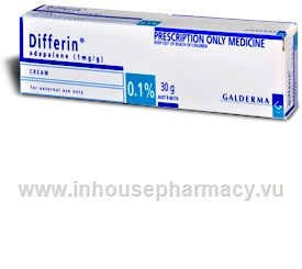 Differin 0 .1% Cream 30gm Tube (Adapalene)