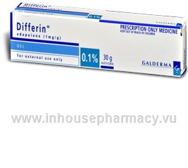 Differin 0.1% Gel 30g Tube (Adapalene 0.1%)