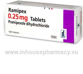 Ramipex 0.25mg (Pramipexole) 100 Tablets/Pack