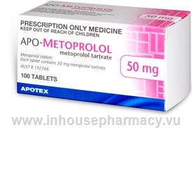 Metoprolol 50mg APO 100 Tablets/Pack