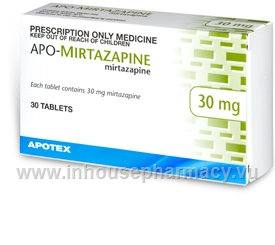 APO-Mirtazapine 30mg 30 Tablets/Pack