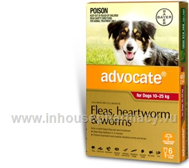 Advocate for Dogs 10-25kg 6 Tubes