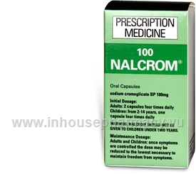 Nalcrom 100mg (Sodium Cromoglycate) 100 Capsules/Pack