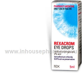 Rexacrom Eye Drops 2% (Sodium Cromoglycate) 5ml/Pack