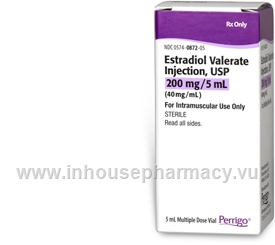 Estradiol Valerate Injection 200mg/5mL 1 x 5mL/Vial