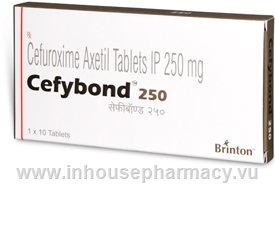 Cefybond 250 (Cefuroxime Axetil 250mg) 10 Tablets/Pack
