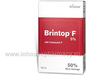Brintop F (Minoxidil & Finasteride 5%/0.1%) Topical Solution 100ml/Pack