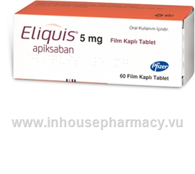Eliquis (Apixaban 5mg) 60 Tablets/Pack (Turkish)