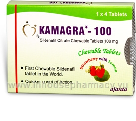Kamagra (Sildenafil Citrate 100mg) Chewable 4 Tablets/Pack