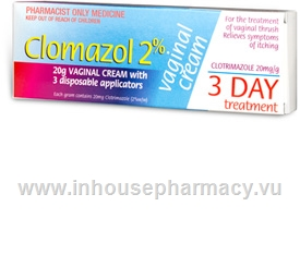 Clomazol (Clotrimazole 2%) Vaginal Cream 20g/Pack