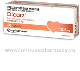 Dicarz (Carvedilol 12.5mg) 60 Tablets/Pack