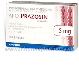 Prazosin (Prazosin Hydrochloride 5mg) 100 Tablets/Pack