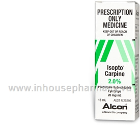 Isopto Carpine (Pilocarpine Hydrochloride 2%) Eye Drops 15ml/Pack