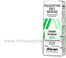 Isopto Carpine (Pilocarpine Hydrochloride 4%) Eye Drops 15ml/Pack