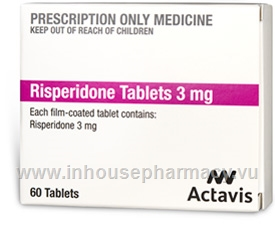 Risperidone Tablets 3mg 60 Tablets/Pack
