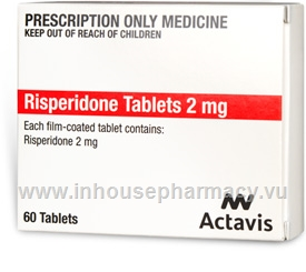 Risperidone Tablets 2mg 60 Tablets/Pack