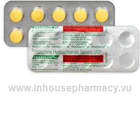 Trazalon (Trazodone 50mg) 10 Tablets/Strip
