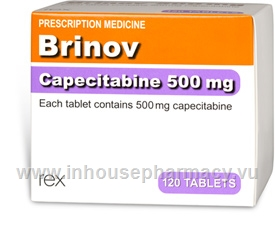 Brinov (Capecitabine 500mg) 120 Tablets/Pack
