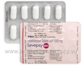 Levepsy (Levetiracetam 1000mg) 10 Tablets/Strip