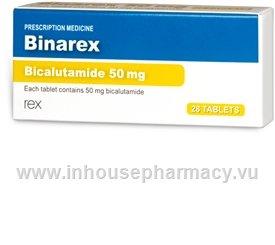 Binarex (Bicalutamide 50mg) 28 Tablets/Pack