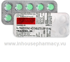 Trazonil-50 (Trazodone 50mg) 10 Tablets/Strip