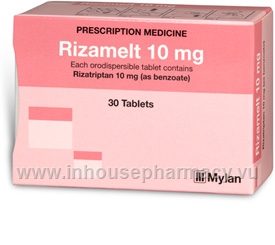 Rizamelt (Rizatriptan 10mg) 30 Tablets/Pack