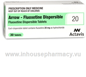 Fluoxetine Dispersible (Fluoxetine 20mg) 30 Tablets/Pack