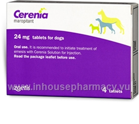 Cerenia (Maropitant citrate 24mg) 4 Tablets/Pack