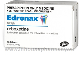 Edronax (Reboxetine 4mg) 60 Tablets/Pack